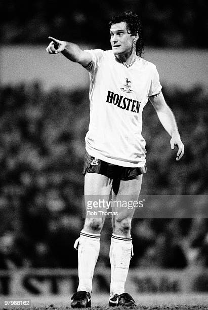 Glenn Hoddle of Tottenham Hotspur during the Tottenham Hotspur v Manchester United Division 1 match played at White Hart Lane London on the 12th...