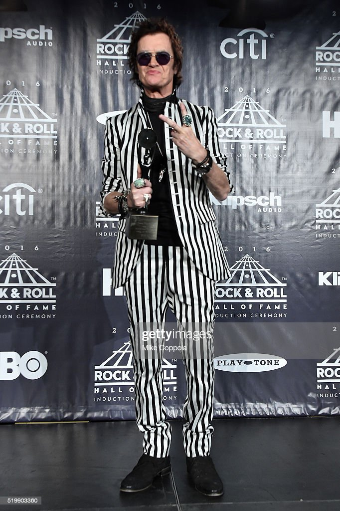 Glenn Hughes of Deep Purple attends the 31st Annual Rock And Roll Hall Of Fame Induction Ceremony at Barclays Center on April 8, 2016 in New York City.