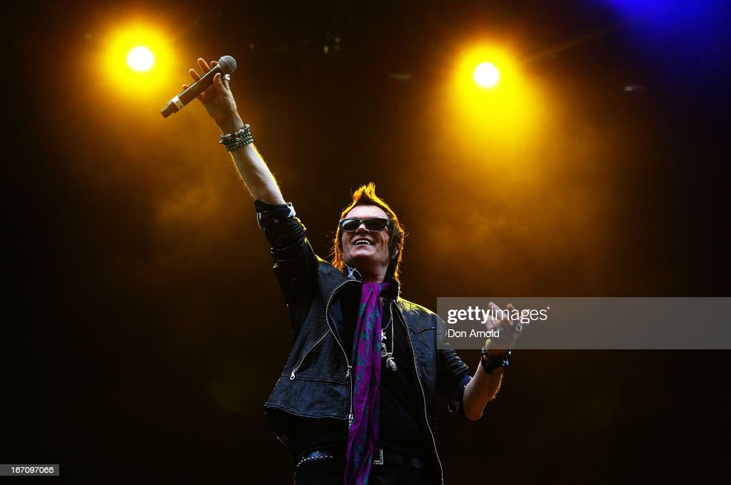 Glenn Hughes of Kings of Chaos performs on stage at the 2013 STONE Music Festival at ANZ Stadium on April 20, 2013 in Sydney, Australia.