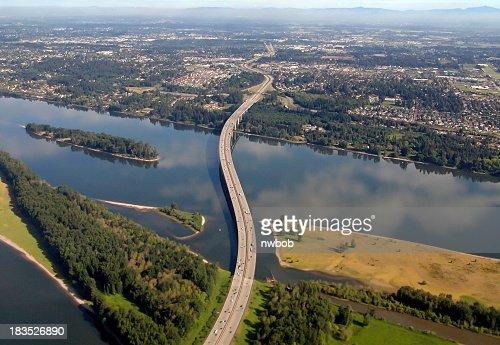 I-205 Glenn Jackson Bridge War Vetrans Memorial Freeway  Oregon Washington