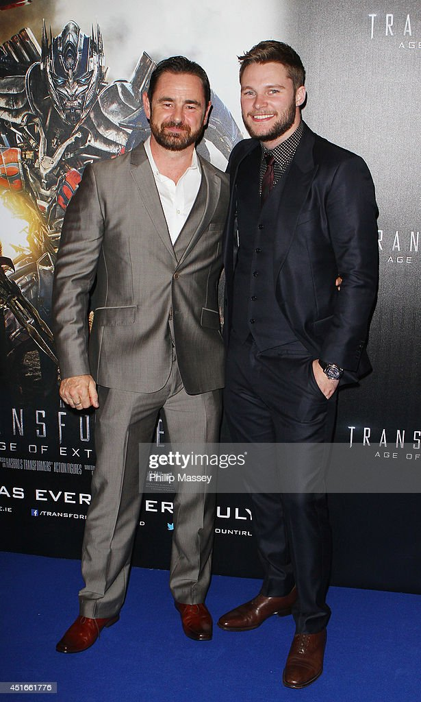 Glenn Keogh and <a gi-track='captionPersonalityLinkClicked' href=/galleries/search?phrase=Jack+Reynor&family=editorial&specificpeople=10130487 ng-click='$event.stopPropagation()'>Jack Reynor</a> attend the Irish Premiere of 'Transformers 4: Age of Extinction' at Savoy Cinema on July 3, 2014 in Dublin, Ireland.