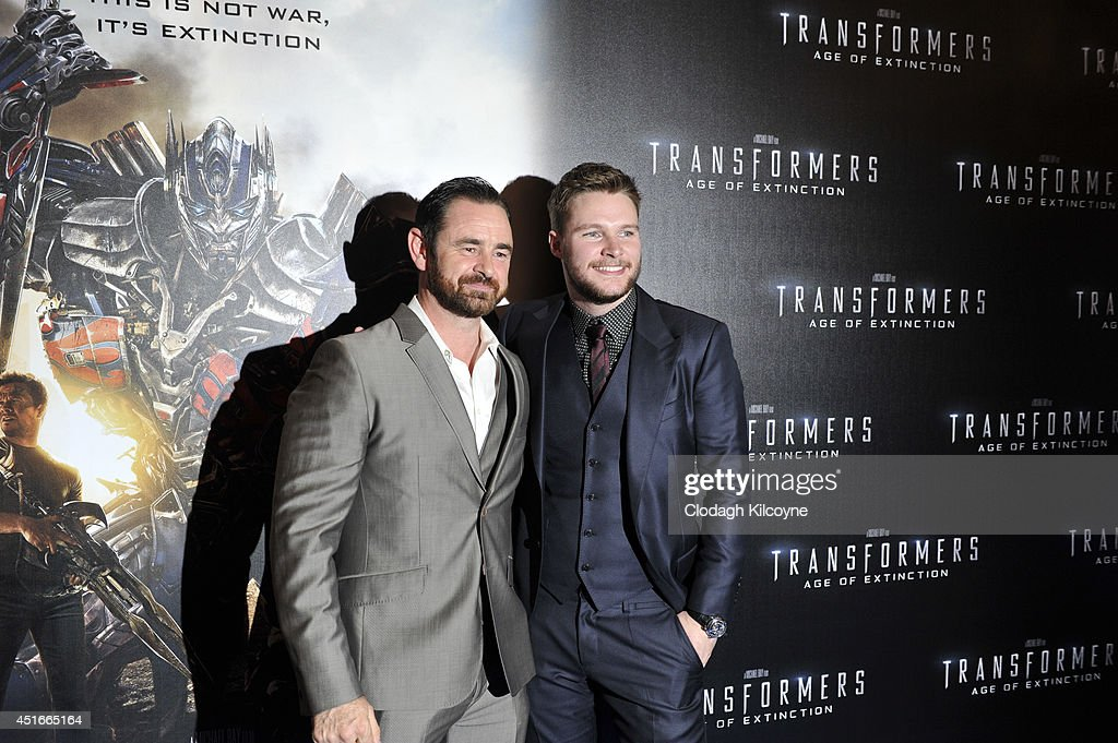 Glenn Keogh and Jack Reynor attends the Irish Premiere of 'Transformers 4 Age of Extinction' at Savoy Cinema on July 3 2014 in Dublin Ireland