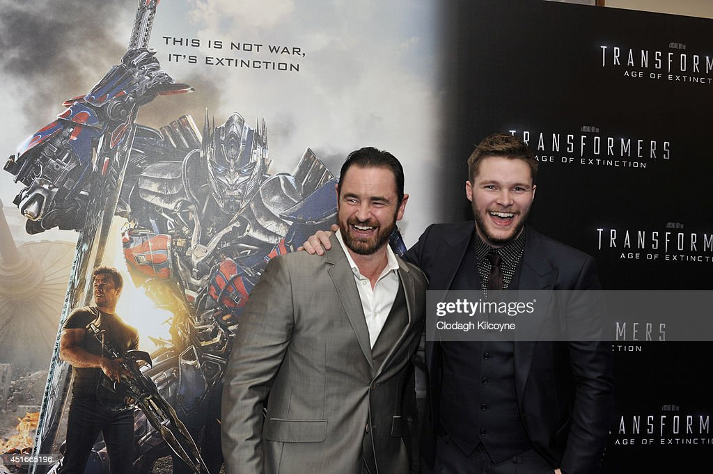 Glenn Keogh and <a gi-track='captionPersonalityLinkClicked' href=/galleries/search?phrase=Jack+Reynor&family=editorial&specificpeople=10130487 ng-click='$event.stopPropagation()'>Jack Reynor</a> attends the Irish Premiere of 'Transformers 4: Age of Extinction' at Savoy Cinema on July 3, 2014 in Dublin, Ireland.