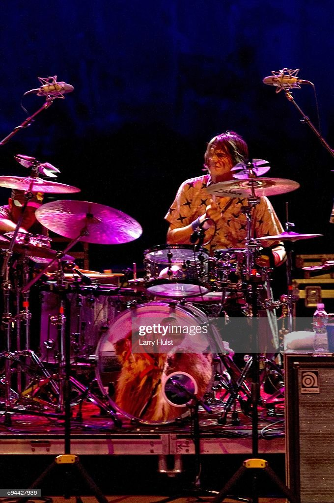 Glenn Kotche is performing with 'Wilco' at the Red Rocks Amphitheatre in Morrison Colorado on July 2 2008