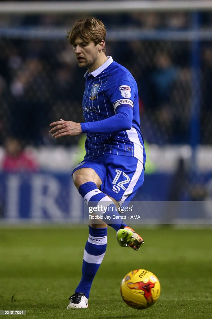 Glenn Loovens of Sheffield Wednesday during the Sky Bet Championship match between Sheffield Wednesday and Birmingham City at Hillsborough on February 10, 2017 in Sheffield, England.