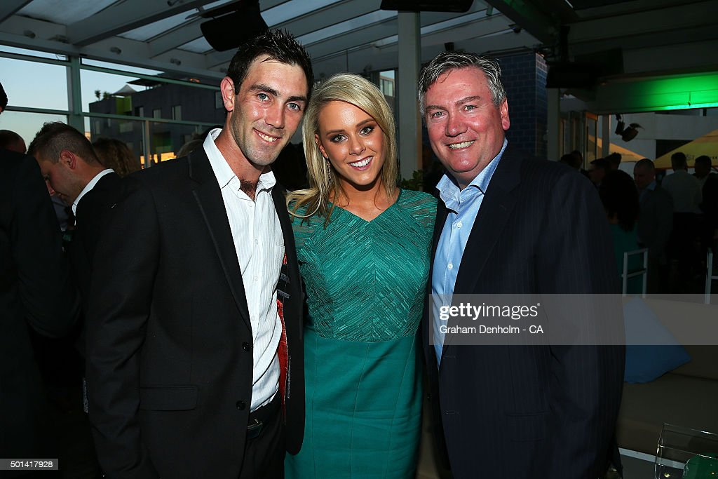 Glenn Maxwell and Eddie McGuire pose during the Melbourne Stars Big Bash League season launch at The Emerson on December 15 2015 in Melbourne...