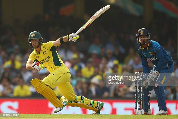 Glenn Maxwell of Australia bats during the 2015 ICC Cricket World Cup match between Australia and Sri Lanka at Sydney Cricket Ground on March 8 2015...