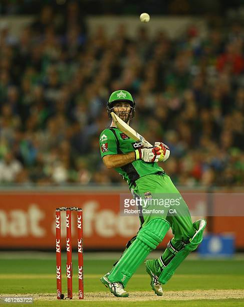 Glenn Maxwell of the Melbourne Stars bats during the Big Bash League match between the Melbourne Stars and the Melbourne Renegades at Melbourne...
