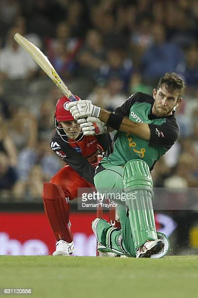 Glenn Maxwell of the Melbourne Stars bats during the Big Bash League match between the Melbourne Renegades and the Melbourne Stars at Etihad Stadium...