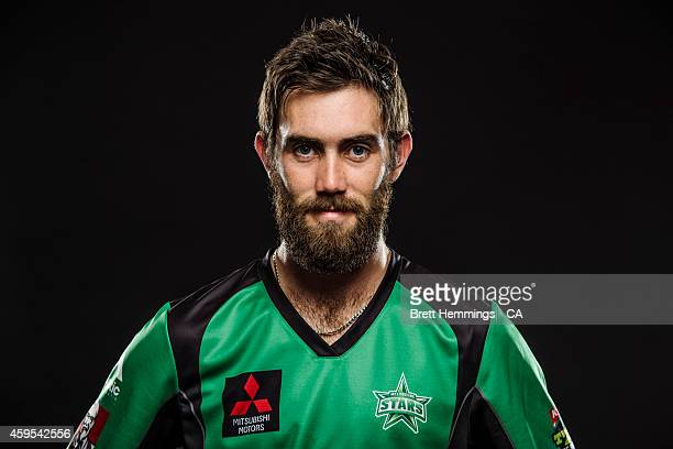 Glenn Maxwell of the Melbourne Stars poses during the 2014/15 Big Bash League portrait session on August 11 2014 in Sydney Australia