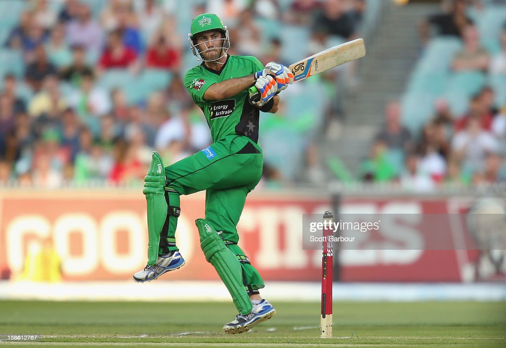 <a gi-track='captionPersonalityLinkClicked' href=/galleries/search?phrase=Glenn+Maxwell&family=editorial&specificpeople=752174 ng-click='$event.stopPropagation()'>Glenn Maxwell</a> of the Stars bats during the Big Bash League match between the Melbourne Stars and the Sydney Sixers at Melbourne Cricket Ground on December 21, 2012 in Melbourne, Australia.