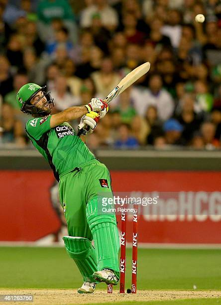 Glenn Maxwell of the Stars bats during the Big Bash League match between the Melbourne Stars and the Melbourne Renegades at Melbourne Cricket Ground...