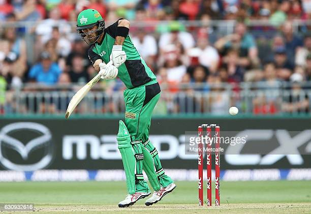 Glenn Maxwell of the Stars bats during the Big Bash League match between the Sydney Thunder and Melbourne Stars at Spotless Stadium on January 4 2017...