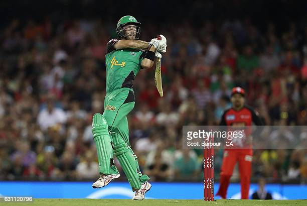 Glenn Maxwell of the Stars bats during the Big Bash League match between the Melbourne Renegades and the Melbourne Stars at Etihad Stadium on January...