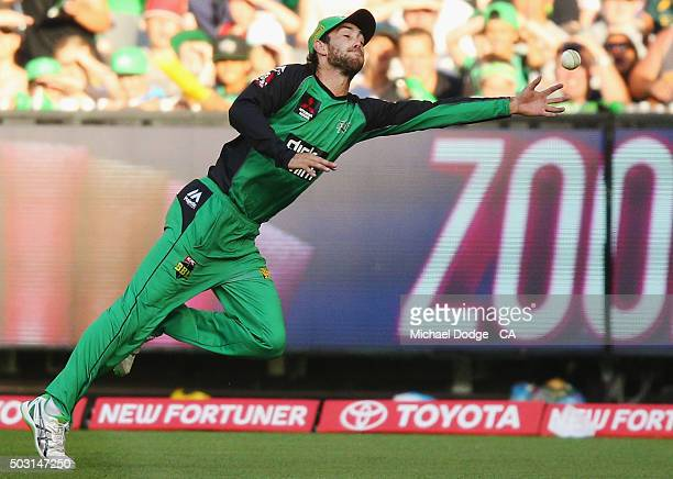Glenn Maxwell of the Stars misses a catch during the Big Bash League match between the Melbourne Stars and the Melbourne Renegades at Melbourne...