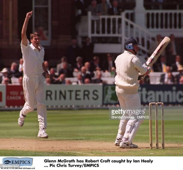 Glenn McGrath has Robert Croft caught by Ian Healy