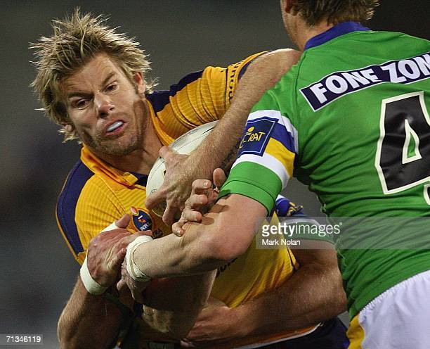 Glenn Morrison of the Eels in action during the round 17 NRL match between the Canberra Raiders and the Parramatta Eels played at Canberra Stadium on...