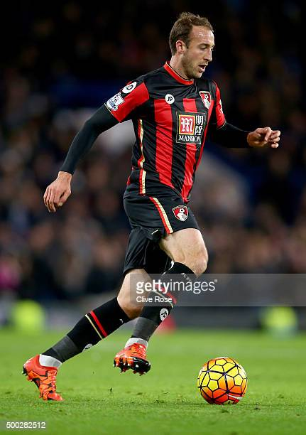 Glenn Murray of Bournemouth in action during the Barclays Premier League match between Chelsea and AFC Bournemouth at Stamford Bridge on December 5...