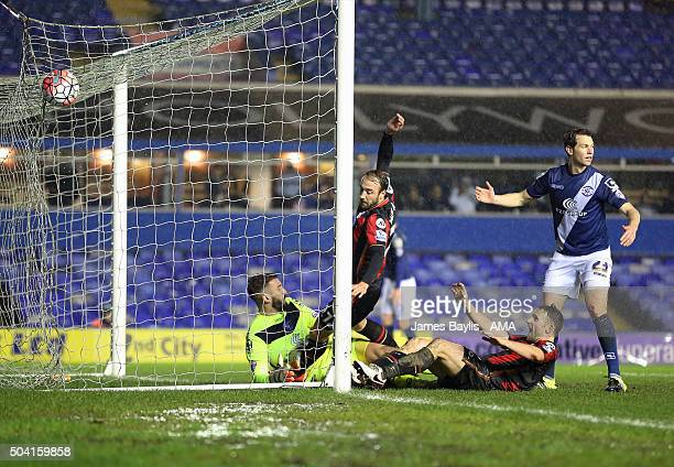 Glenn Murray of Bournemouth scores a goal to make it 12 during The Emirates FA Cup match between Birmingham City and AFC Bournemouth at St Andrews on...