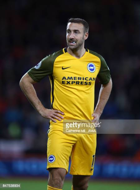 Glenn Murray of Brighton and Hove Albion during the Premier League match between AFC Bournemouth and Brighton and Hove Albion at Vitality Stadium on...
