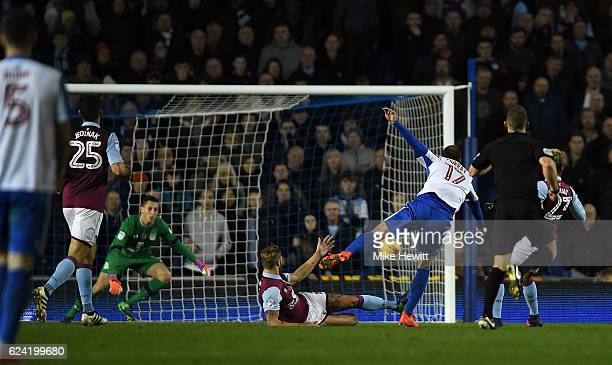 Glenn Murray of Brighton equalises during the Sky Bet Championship match between Brighton Hove Albion and Aston Villa at Amex Stadium on November 18...