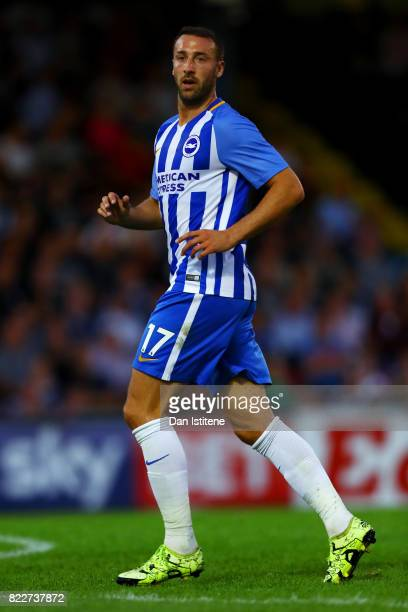 Glenn Murray of Brighton Hove Albion in action during the preseason friendly match between Southend United and Brighton Hove Albion at Roots Hall on...