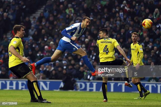 Glenn Murray of Brighton Hove Albion scores during the Sky Bet Championship match between Brighton Hove Albion and Burton Albion at Amex Stadium on...