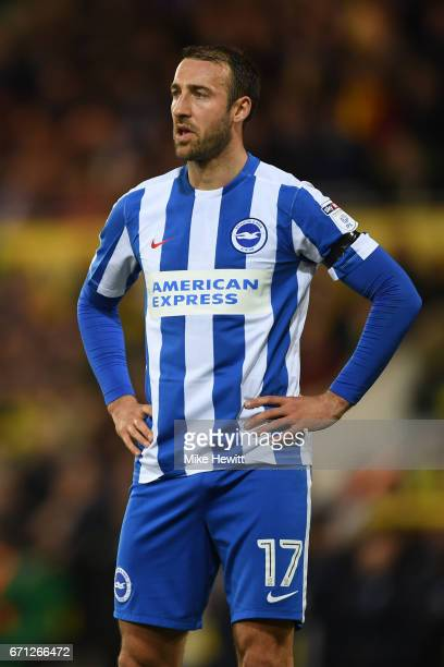 Glenn Murray of Brighton shows his disappointment during the Sky Bet Championship match between Norwich City and Brighton Hove Albion at Carrow Road...