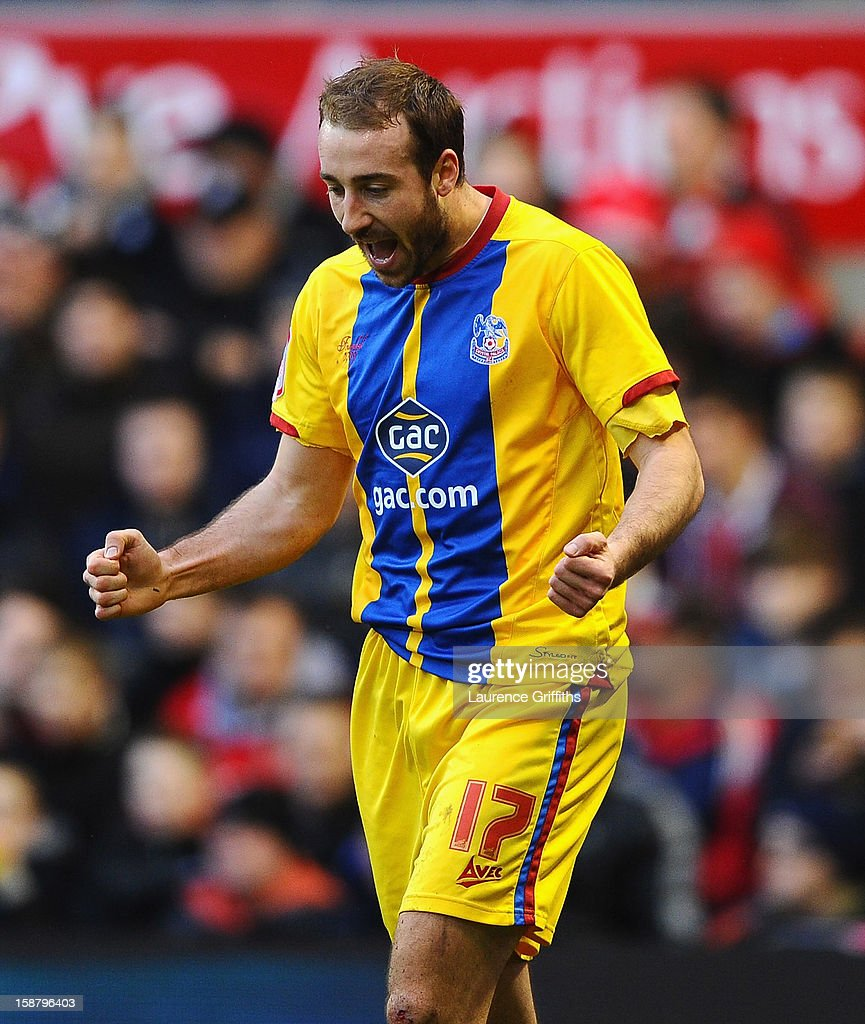 Glenn Murray of Nottingham Forest celebrates his first goal during the npower Championship match between Nottingham Forest and Crystal Palace at City Ground on December 29, 2012 in Nottingham, England.