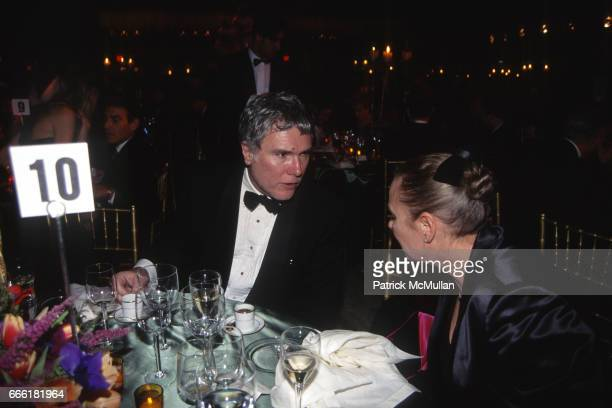 Glenn O'Bien and Polly Hamilton attend the Fourteenth Annual Council of Fashion Designers of America Awards Gala at Lincoln Center on January 30 1995...