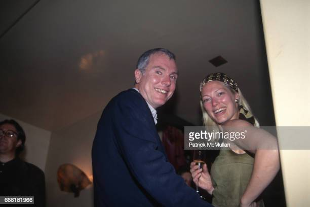 Glenn O'Brien and future wife Gina Nanni attend Reception for Givenchy at Saks Fifth Avenue on September 9 1996 in New York City