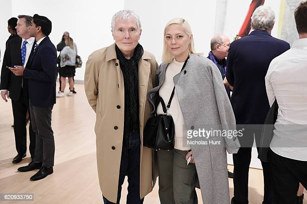 Glenn O'Brien and Gina Nanni attend as Brooklyn Museum celebrates Marilyn Minter and Iggy Pop at Opening Night Event at Brooklyn Museum on November 3...