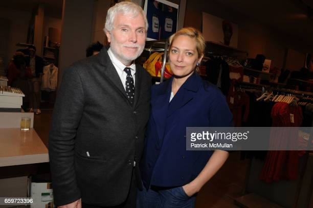 Glenn O'Brien and Gina Nanni attend INTERVIEW MAGAZINE and UNITED COLORS OF BENETTON Toast MIKE MILLS and 'Graphic Films' at United Colors of...