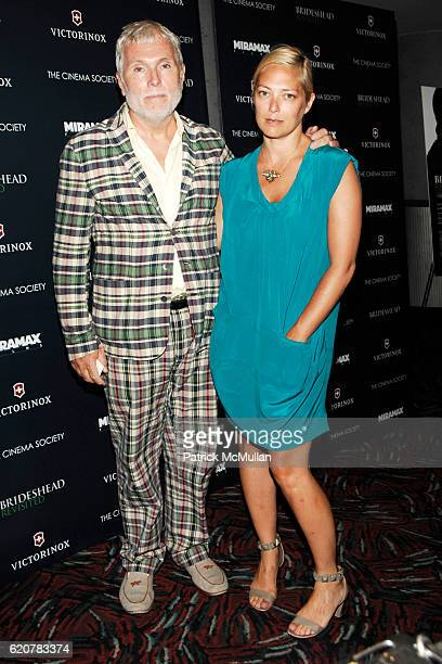 Glenn O'Brien and Gina Nanni attend THE CINEMA SOCIETY VICTORINOX host a screening of 'BRIDESHEAD REVISITED' at AMC LOEWS 19th STREET BROADWAY on...