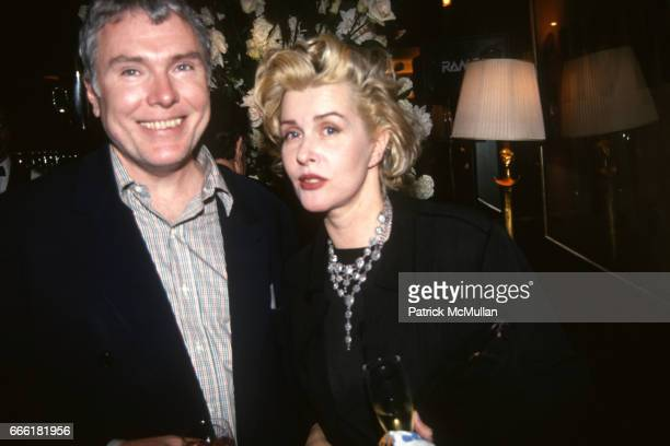 Glenn O'Brien and guest at Mr Chows/Warhol Museum on May 11 1994 in New York City