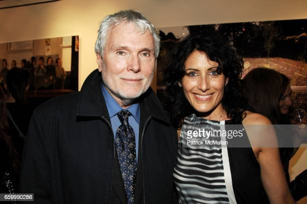 Glenn O'Brien and Lisa Edelstein attend MINA GALLERY Hosts SAM BASSETT and BOBBY GROSSMAN at Mina Gallery on May 14 2009 in New York City