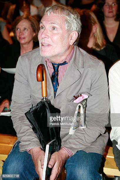 Glenn O'Brien attends ALEXANDER WANG Spring 2009 Fashion Show at Eyebeam on September 6 2008 in New York City