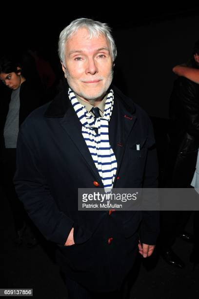 Glenn O'Brien attends PHILOSOPHY di ALBERTA FERRETTI FALL 2009 COLLECTION at Eyebeam Gallery on February 17 2009 in New York City