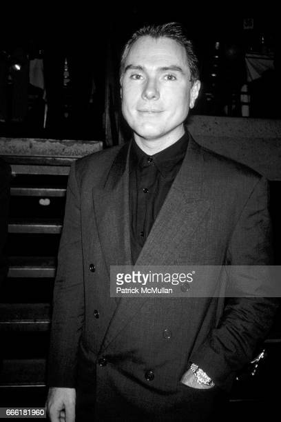 Glenn O'Brien out on the town at Club MK in October 1989 in New York City