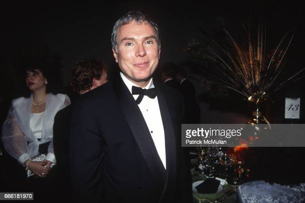 Glenn O'Brien photographed by Patrick McMullan at the Whitney Museum of American Art on October 24 1994 in New York City