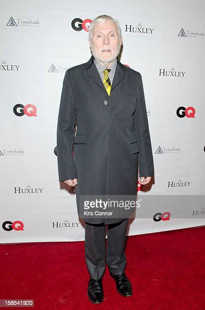 Glenn O'Brien poses for a photo during the GQ Style Issue private reception at The Huxley on December 18 2012 in Washington DC