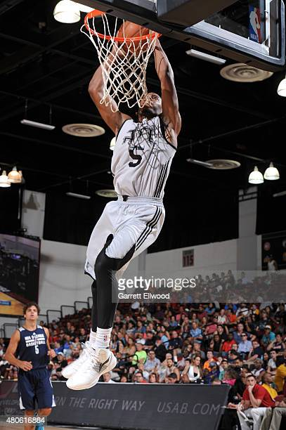 Glenn Robinson III of the Atlanta Hawks dunks against the NBA DLeague Select on July 13 2015 at The Cox Pavilion in Las Vegas Nevada NOTE TO USER...
