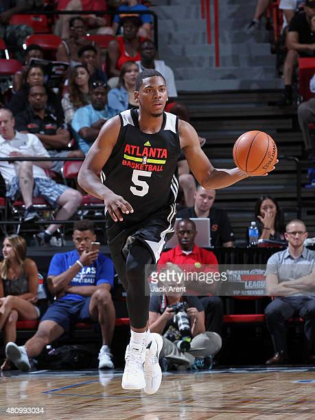 Glenn Robinson III of the Atlanta Hawks on July 16 2015 at the Thomas Mack Center in Las Vegas Nevada NOTE TO USER User expressly acknowledges and...