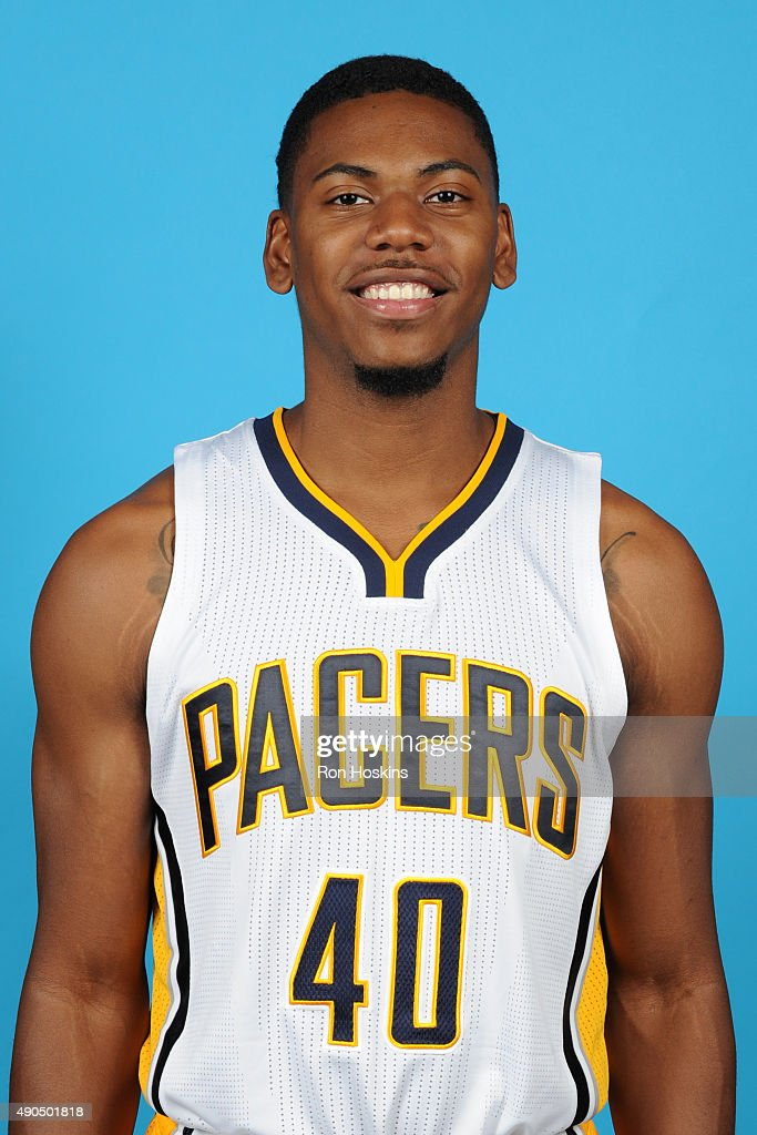 <a gi-track='captionPersonalityLinkClicked' href=/galleries/search?phrase=Glenn+Robinson+III&family=editorial&specificpeople=9920511 ng-click='$event.stopPropagation()'>Glenn Robinson III</a> #40 of the Indiana Pacers poses for a head shot during the Indiana Pacers media day at Bankers Life Fieldhouse on September 28, 2015 in Indianapolis, Indiana.