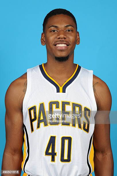 Glenn Robinson III of the Indiana Pacers poses for a head shot during the Indiana Pacers media day at Bankers Life Fieldhouse on September 28 2015 in...