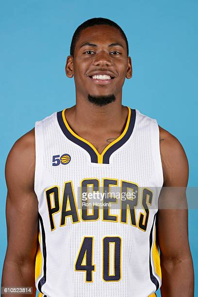 Glenn Robinson III of the Indiana Pacers poses for a head shot during media day at Bankers Life Fieldhouse on September 26 2016 in Indianapolis...