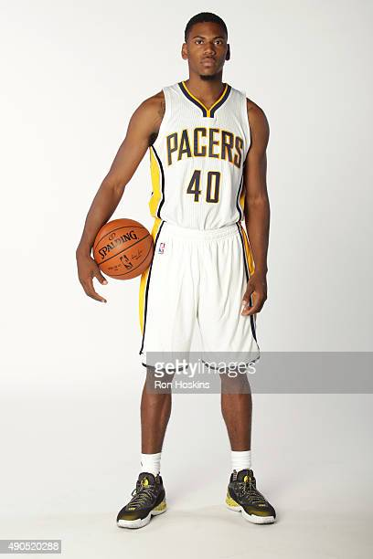 Glenn Robinson III of the Indiana Pacers poses for a portrait during the Indiana Pacers media day at Bankers Life Fieldhouse on September 28 2015 in...
