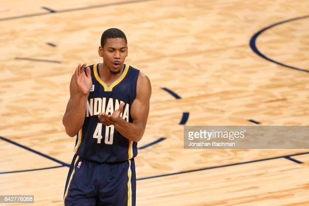 Glenn Robinson III of the Indiana Pacers reacts during the 2017 Verizon Slam Dunk Contest at Smoothie King Center on February 18 2017 in New Orleans...