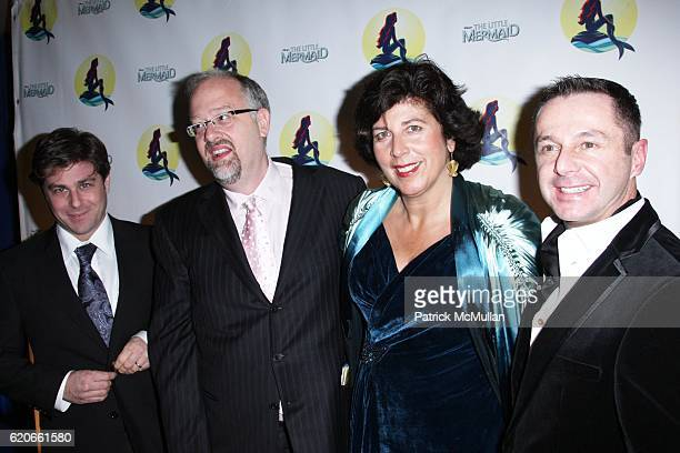 Glenn Slater Doug Wright Francesca Zambello and Stephen Mear attend Opening Night for Broadway's THE LITTLE MERMAID at LuntFontaine Theatre on...