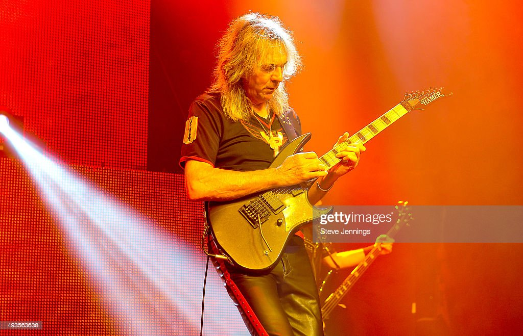Glenn Tipton of Judas Priest performs at The Warfield Theater on October 20, 2015 in San Francisco, California.